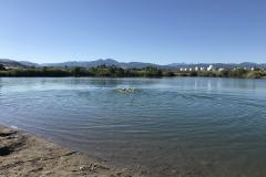 Swimming at East Gallatin Recreation Area in Bozeman, MT. Summer 2020